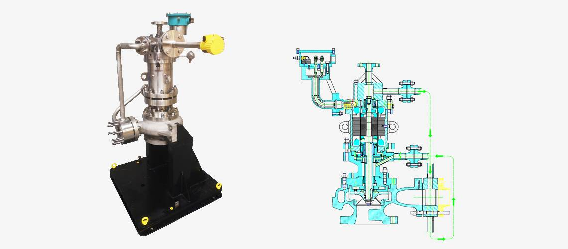industrial pump for liquefied gas ethylene