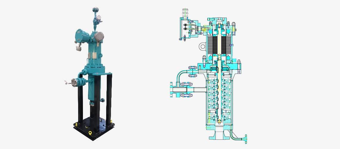 industrial pump for liquefied gaz naphta
